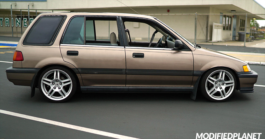 1991 Honda Civic Wagon 17x8 2008 Acura TL Wheels