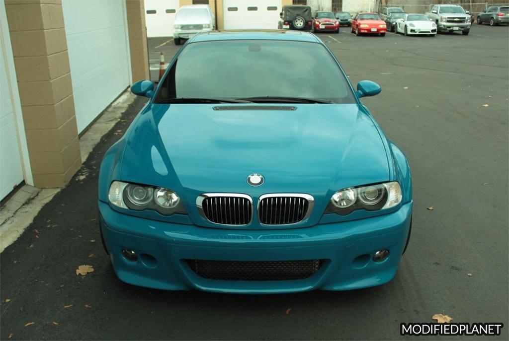 2001 BMW M3 Leguna Seca Blue with Evosport Euro Front Bumper