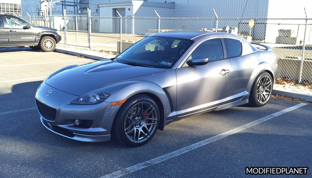 2004 Mazda RX8 Base Coupe with 18x11 Forgestar F14 Wheels