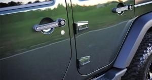 2011 Jeep Wrangler Rubicon Unlimited Drake Door Handle Inserts JP-190015-TT-5