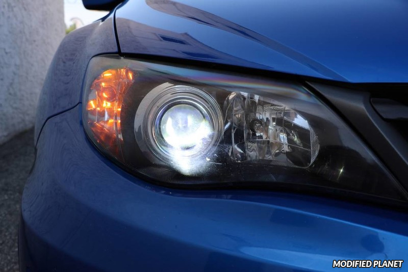 2011 Subaru STI with 6000K HID Headlight Bulbs