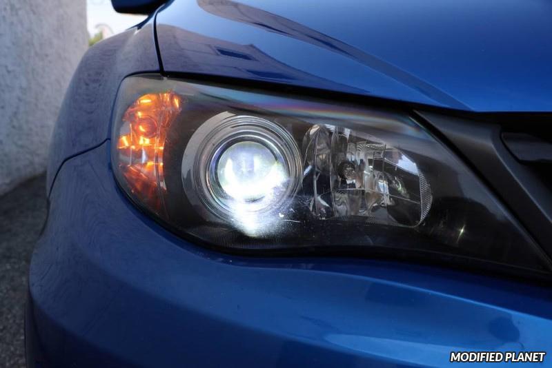 2011 Subaru STI with 6000K HID Headlight Bulbs